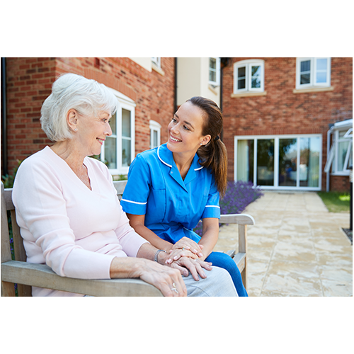 Nurses Visiting Patients at home - Mobile Health Care Professionals Visiting Patients at Home